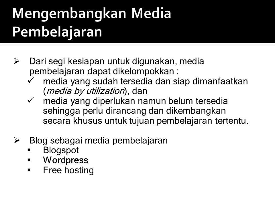 Mengembangkan Media Pembelajaran