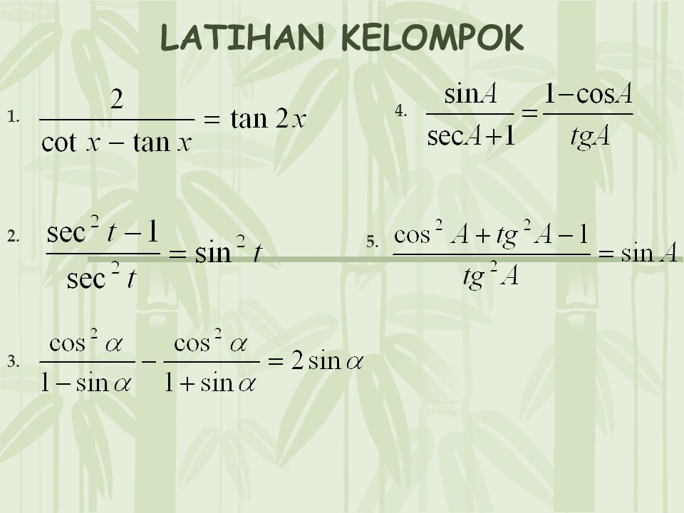 LATIHAN KELOMPOK 4. 1. 2. 5. 3.