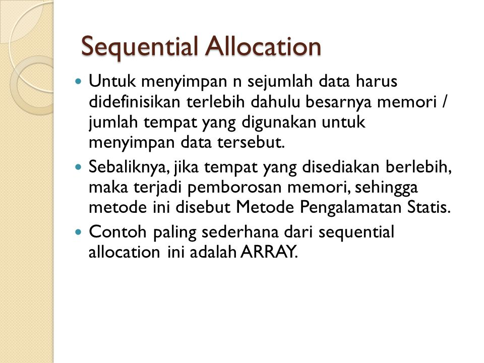 Sequential Allocation