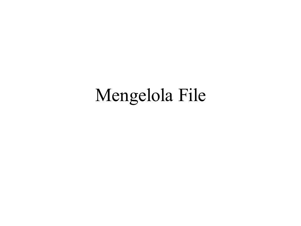 Mengelola File