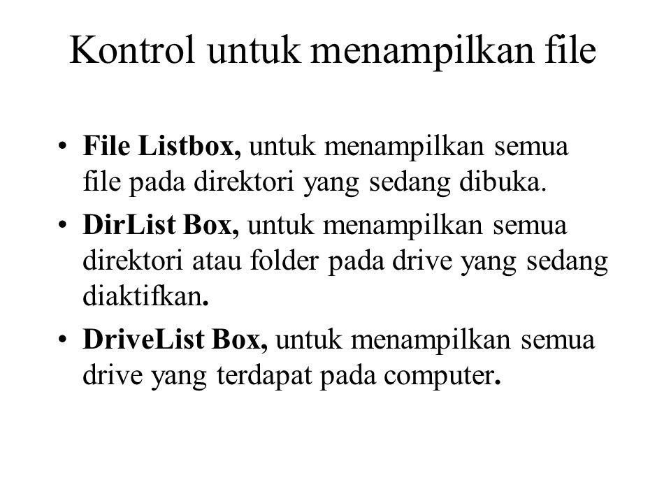 Kontrol untuk menampilkan file