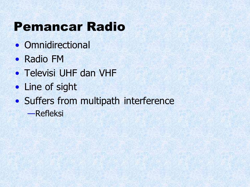 Pemancar Radio Omnidirectional Radio FM Televisi UHF dan VHF