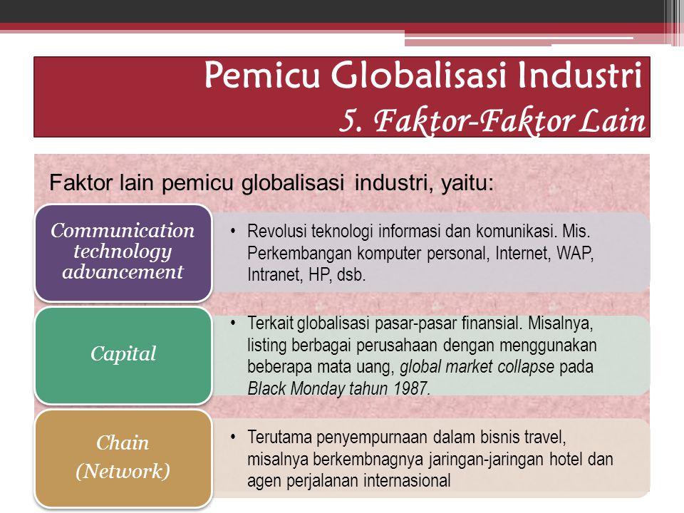 Pemicu Globalisasi Industri 5. Faktor-Faktor Lain