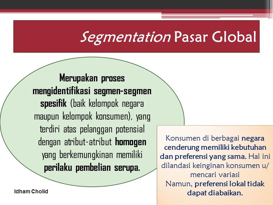 Segmentation Pasar Global
