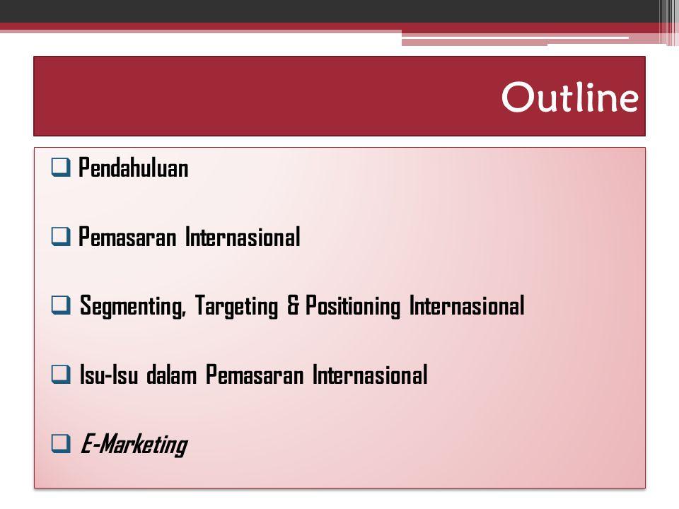 Outline Pendahuluan Pemasaran Internasional