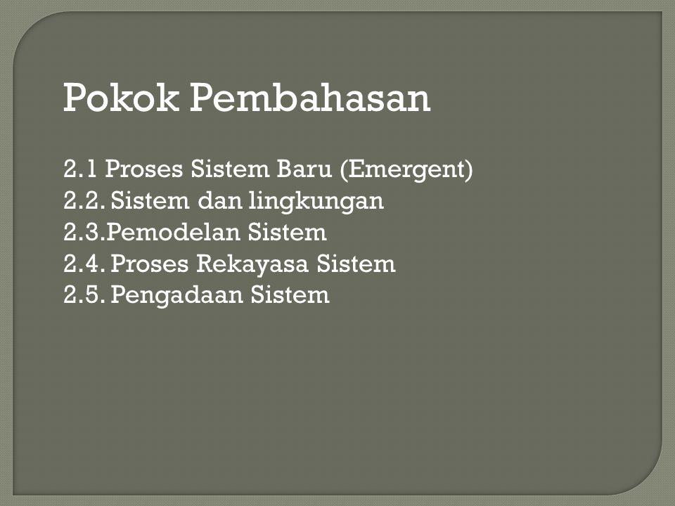 Pokok Pembahasan 2.1 Proses Sistem Baru (Emergent)