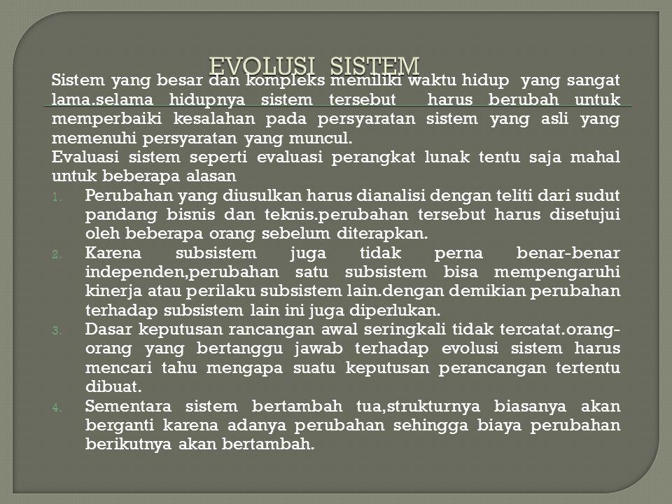 EVOLUSI SISTEM