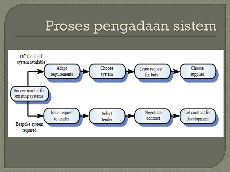 Proses pengadaan sistem
