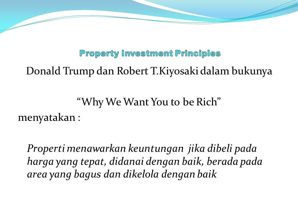 Property Investment Principles