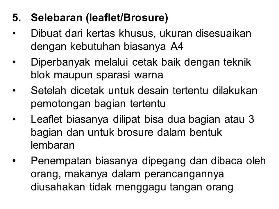 Selebaran (leaflet/Brosure)