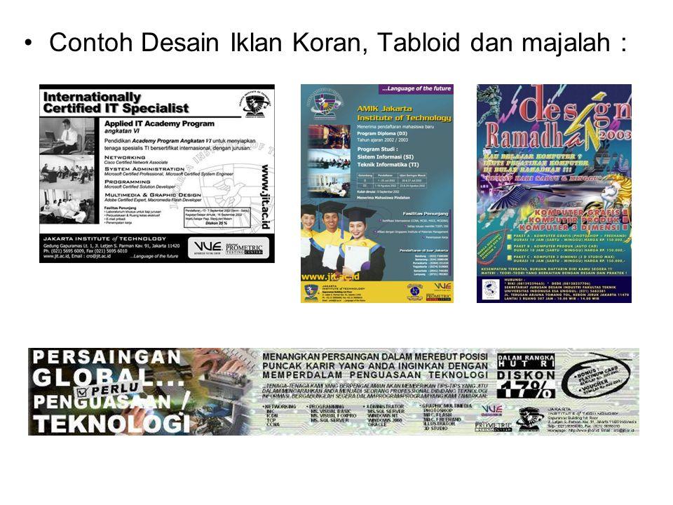 Contoh Desain Iklan Koran, Tabloid dan majalah :