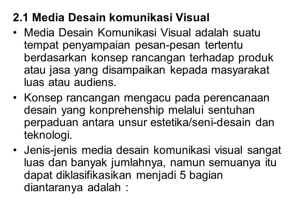 2.1 Media Desain komunikasi Visual