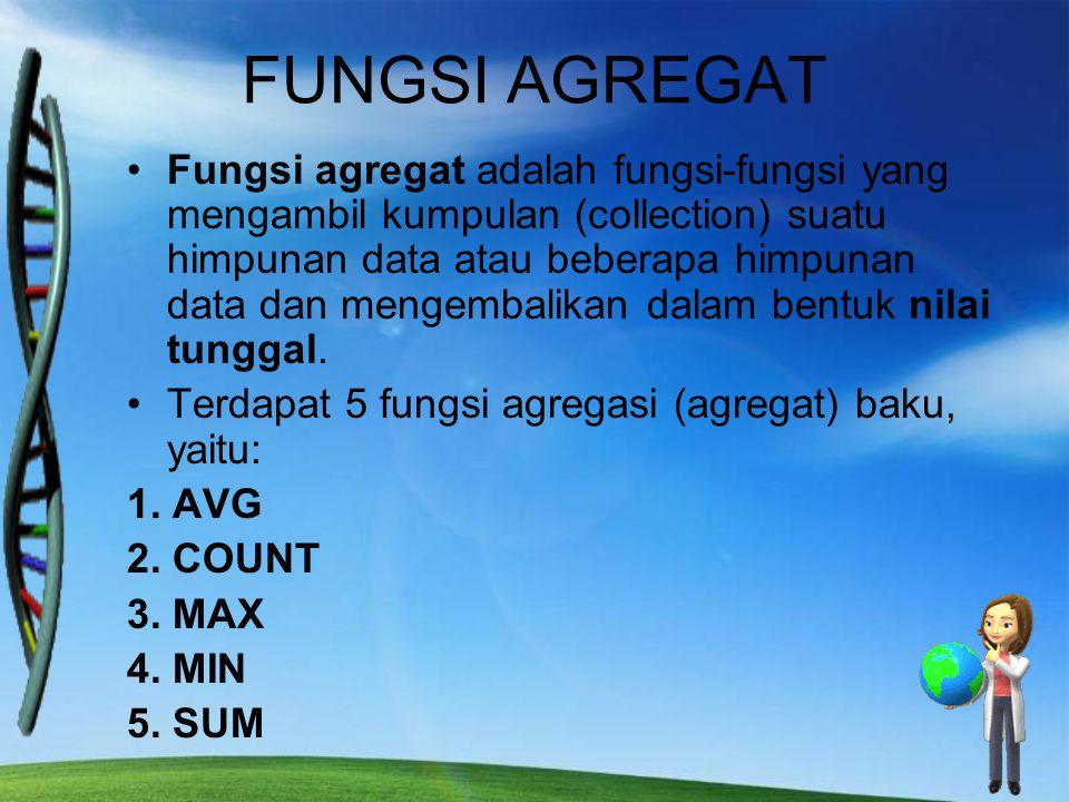 FUNGSI AGREGAT