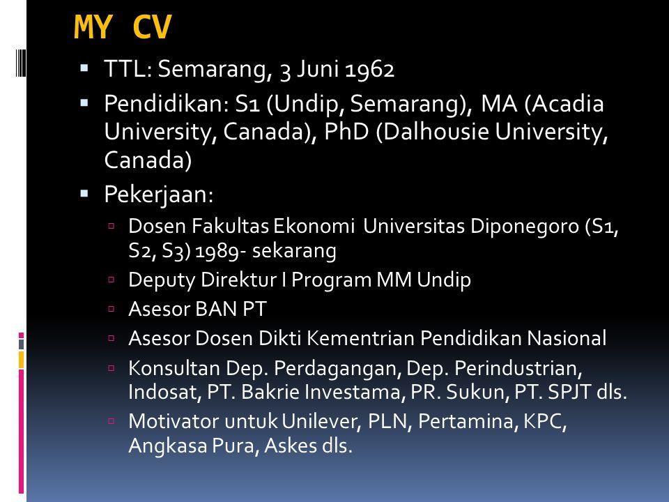 MY CV TTL: Semarang, 3 Juni 1962