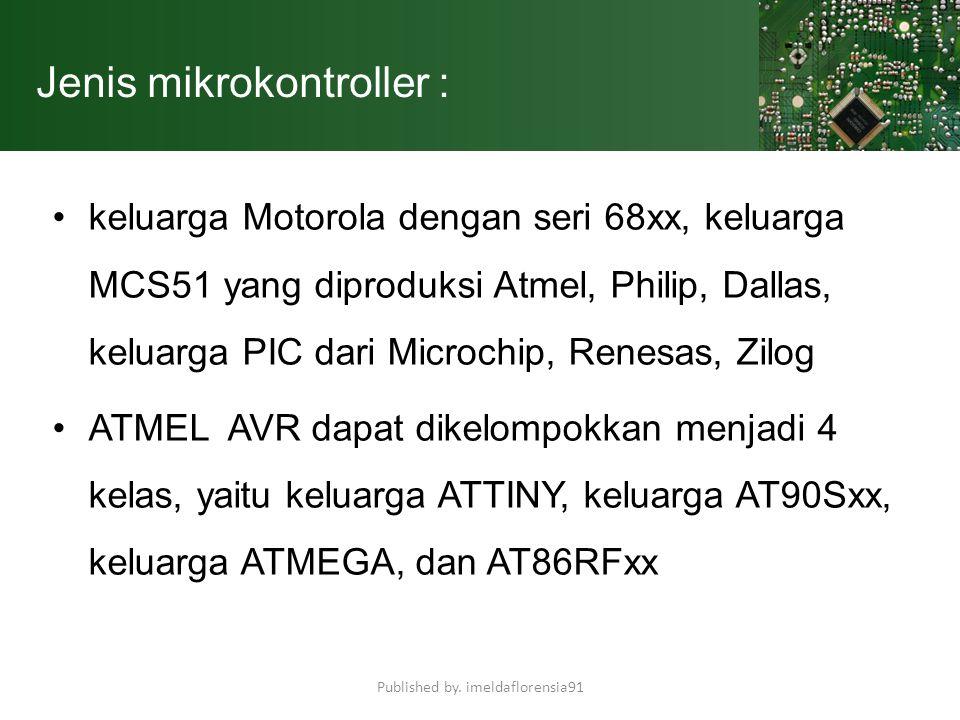 Jenis mikrokontroller :