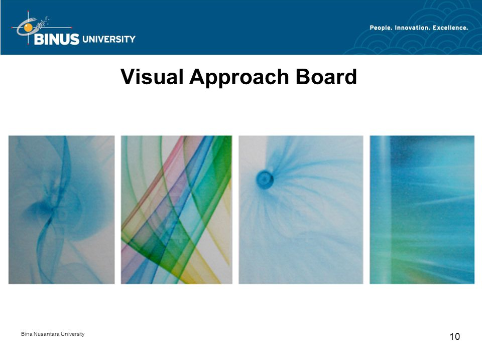 Visual Approach Board Bina Nusantara University