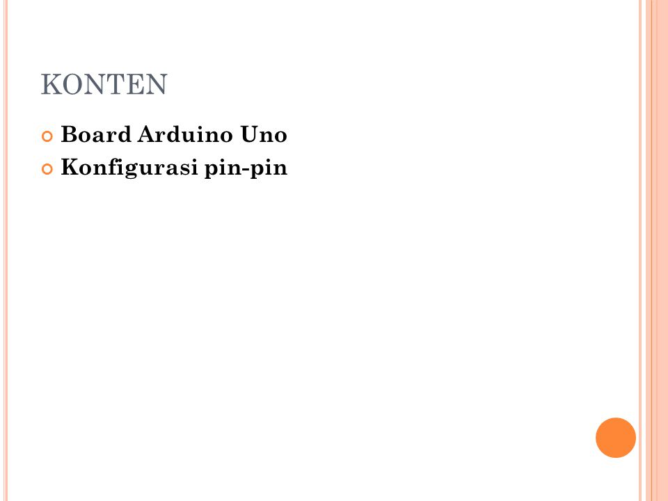 KONTEN Board Arduino Uno Konfigurasi pin-pin