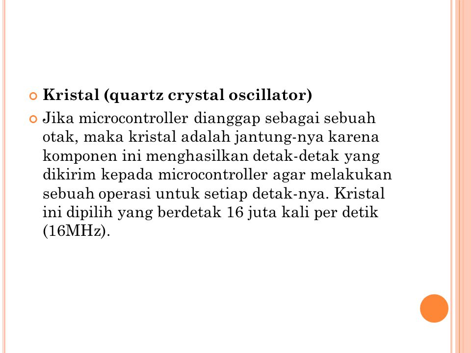 Kristal (quartz crystal oscillator)
