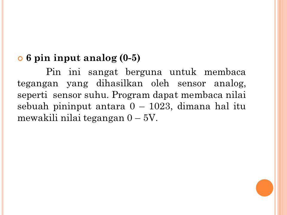 6 pin input analog (0-5)