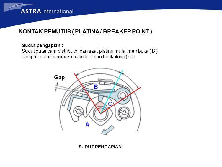 KONTAK PEMUTUS ( PLATINA / BREAKER POINT )