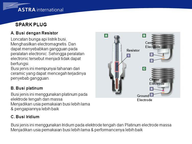 SPARK PLUG A. Busi dengan Resistor