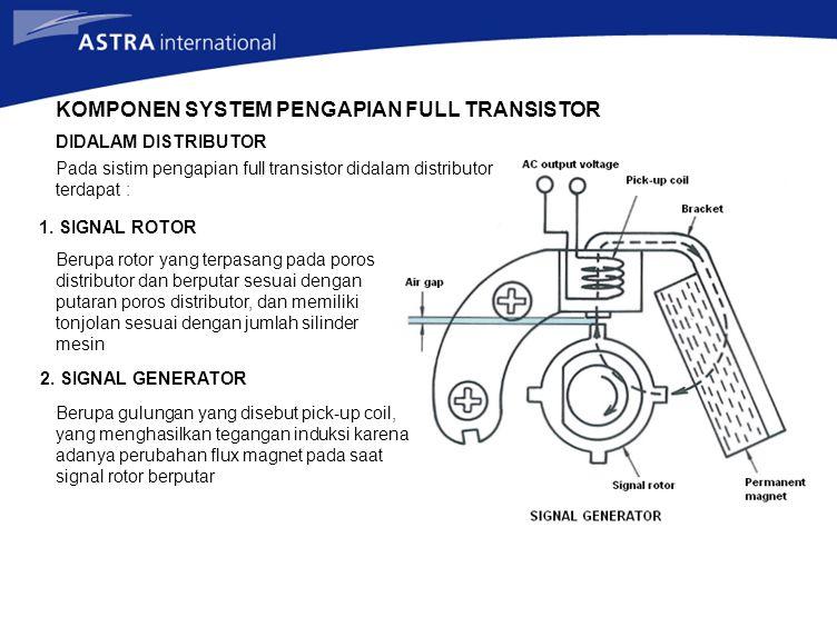 KOMPONEN SYSTEM PENGAPIAN FULL TRANSISTOR