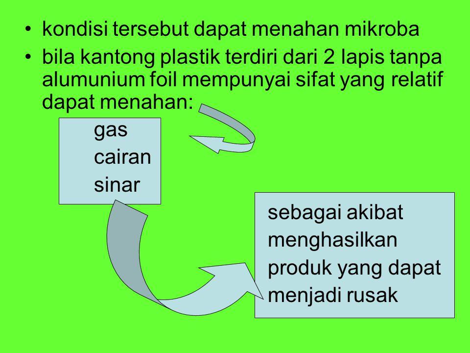 kondisi tersebut dapat menahan mikroba