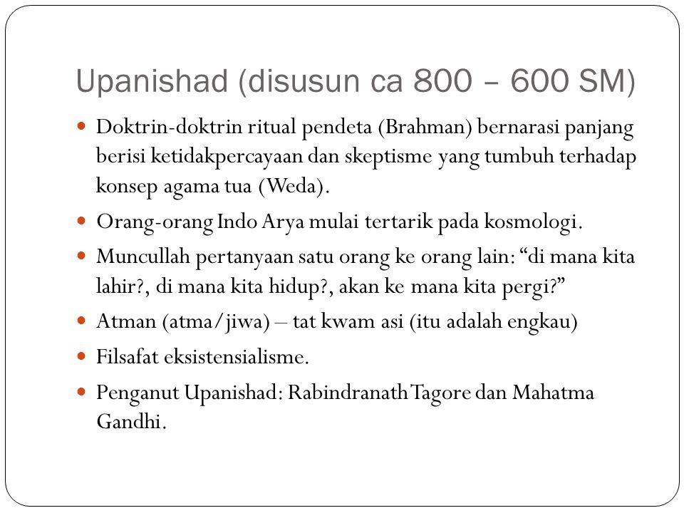 Upanishad (disusun ca 800 – 600 SM)