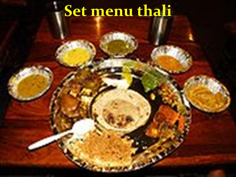 Set menu thali