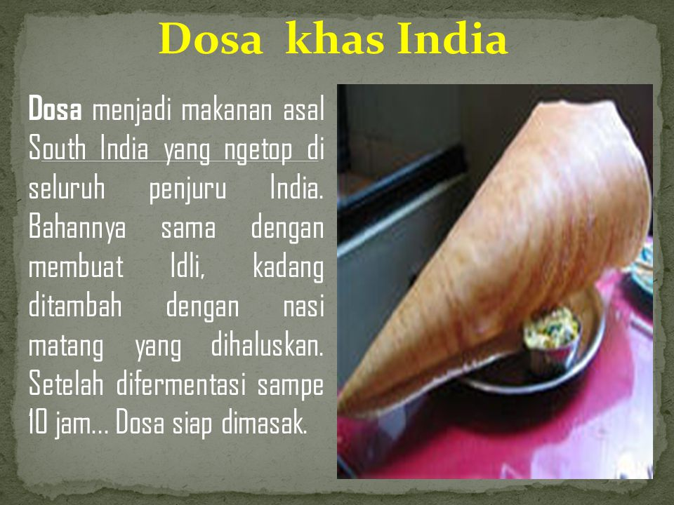 Dosa khas India