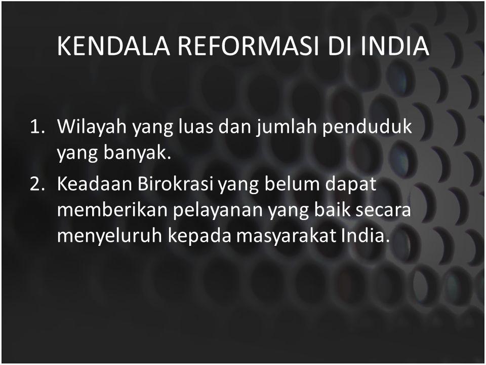 KENDALA REFORMASI DI INDIA