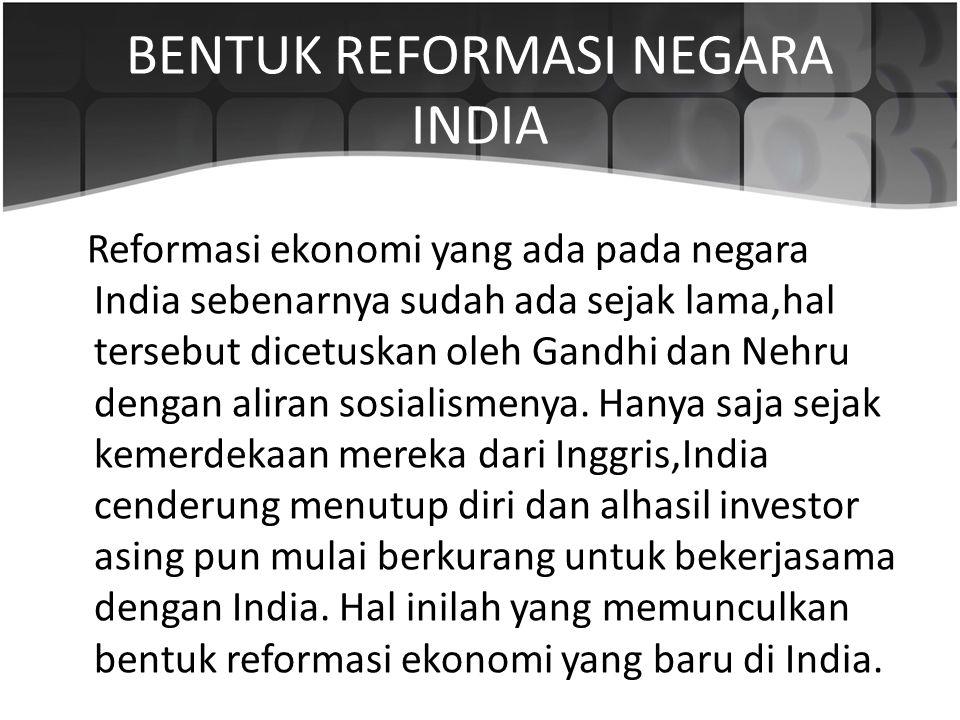 BENTUK REFORMASI NEGARA INDIA