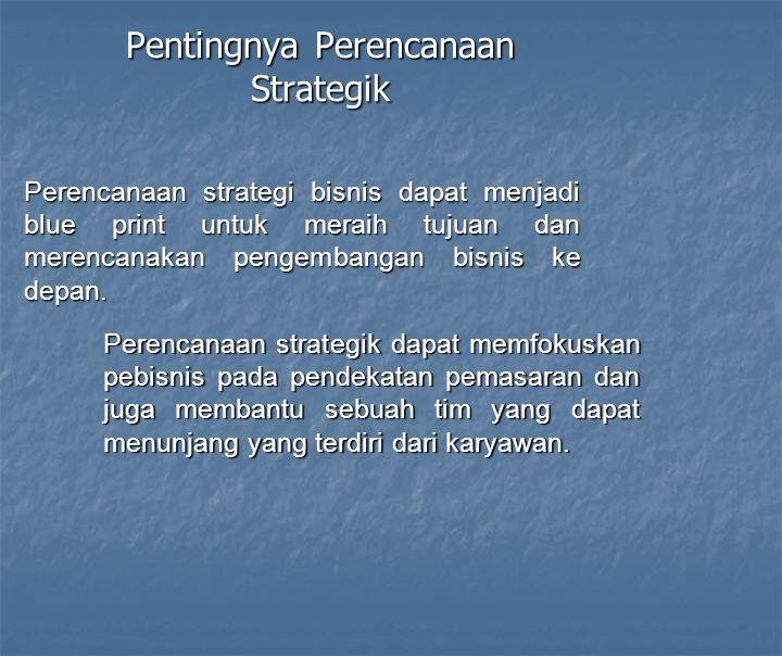 Pentingnya Perencanaan Strategik
