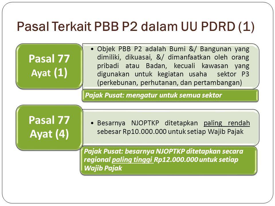 Pasal Terkait PBB P2 dalam UU PDRD (1)