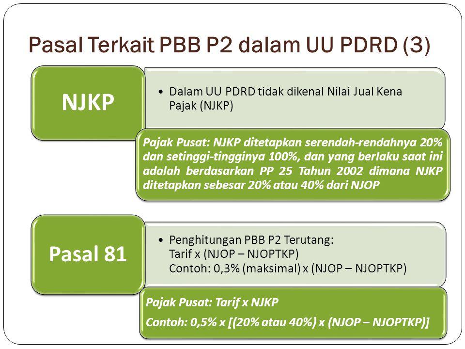 Pasal Terkait PBB P2 dalam UU PDRD (3)