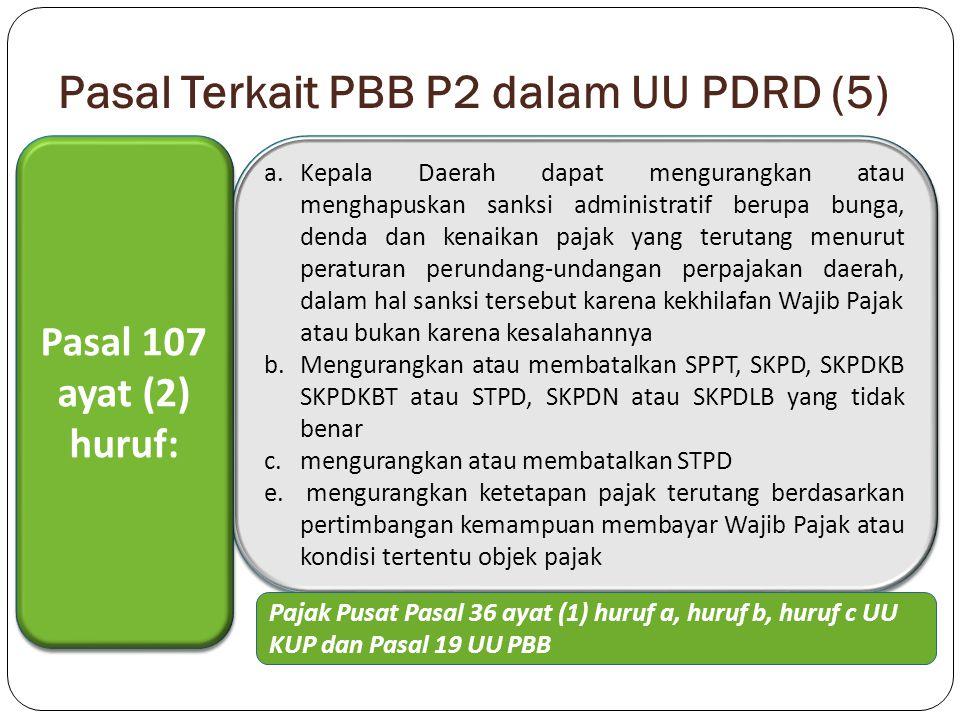 Pasal Terkait PBB P2 dalam UU PDRD (5)
