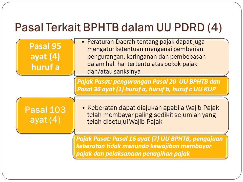 Pasal Terkait BPHTB dalam UU PDRD (4)