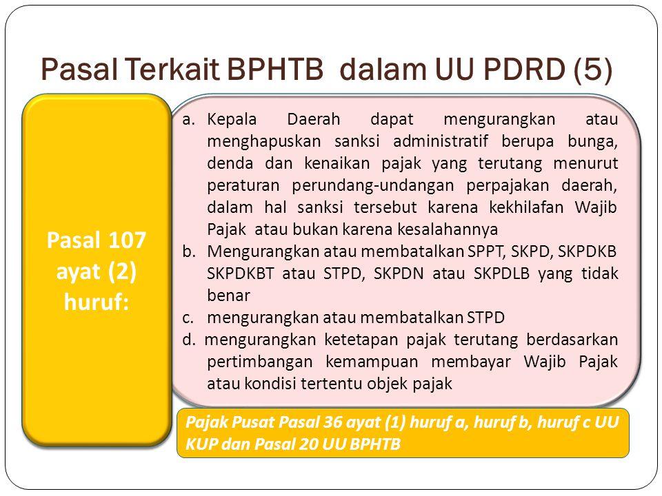 Pasal Terkait BPHTB dalam UU PDRD (5)