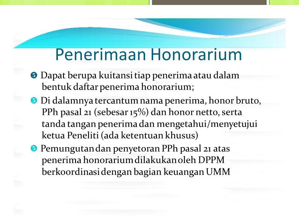 Penerimaan Honorarium