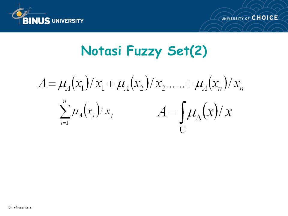 Notasi Fuzzy Set(2) Bina Nusantara