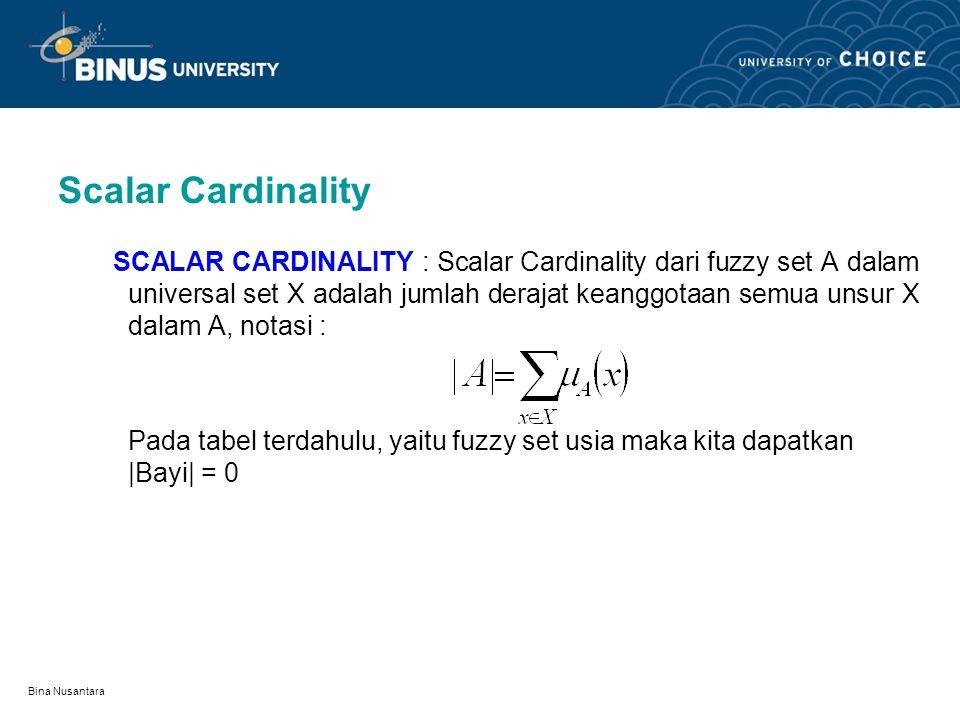 Scalar Cardinality
