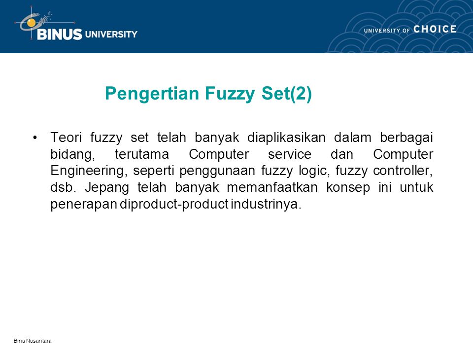 Pengertian Fuzzy Set(2)