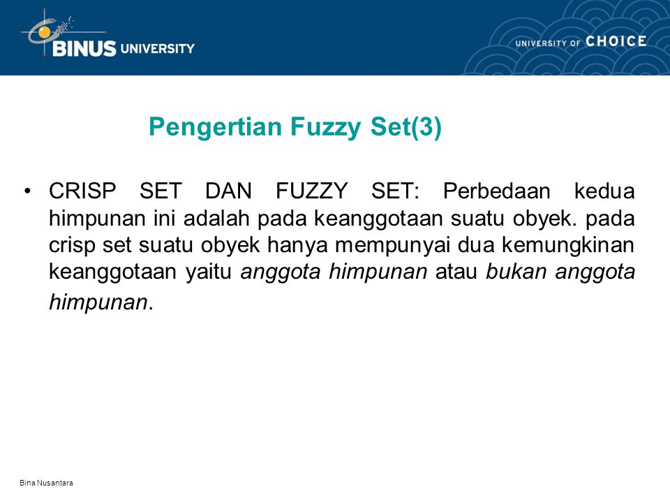 Pengertian Fuzzy Set(3)