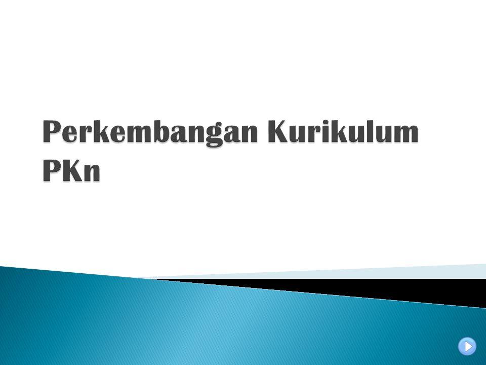 Perkembangan Kurikulum PKn