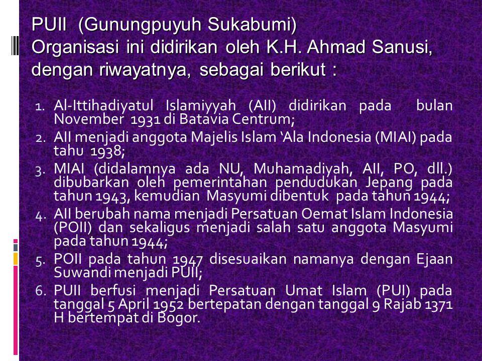 PUII (Gunungpuyuh Sukabumi)