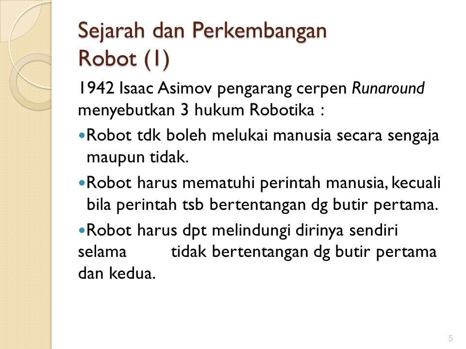 Sejarah dan Perkembangan Robot (1)