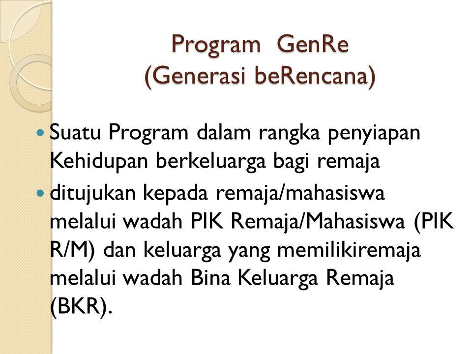 Program GenRe (Generasi beRencana)