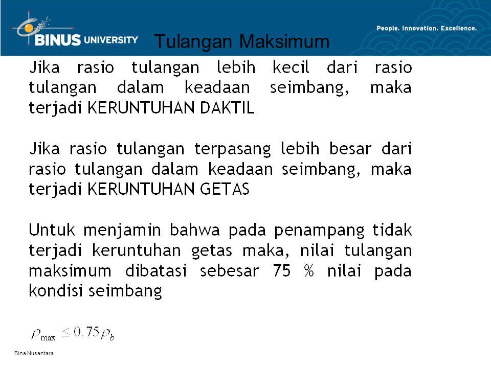 Tulangan Maksimum Bina Nusantara