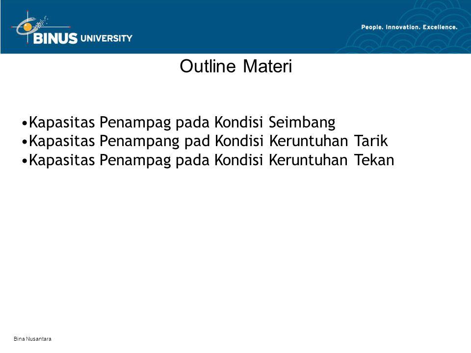Outline Materi •Kapasitas Penampag pada Kondisi Seimbang