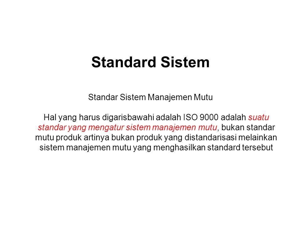 Standard Sistem